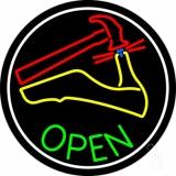 Sandal Repair Logo Open LED Neon Sign