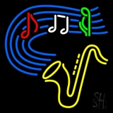 Saxophone Musical Note LED Neon Sign