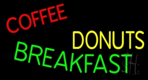 Coffee Donuts Breakfast LED Neon Sign