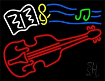 Sheet Music Note Violin LED Neon Sign