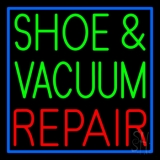 Shoe and Vacuum Repair With Border LED Neon Sign