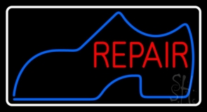 Shoe Logo Repair With Border LED Neon Sign