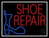 Shoe Repair Logo With Border LED Neon Sign