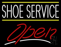 Shoe Service Open LED Neon Sign
