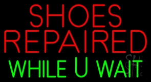 Shoes Repaired While You Wait LED Neon Sign
