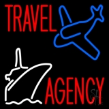 Travel Agency With Logo LED Neon Sign