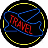 Travel With Blue Logo LED Neon Sign