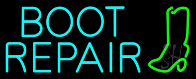 Turquoise Boot Repair LED Neon Sign