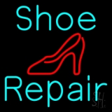 Turquoise Shoe Repair Sandal LED Neon Sign