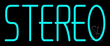 Turquoise Stereo Block LED Neon Sign