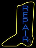 Vertical Shoe Blue Repair LED Neon Sign