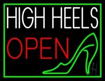 White High Heel Open LED Neon Sign