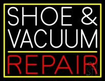 White Shoe and Vacuum Red Repair LED Neon Sign