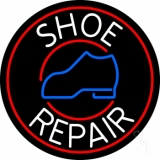 White Shoe Repair Withe Red Border LED Neon Sign