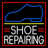 White Shoe Repairing LED Neon Sign