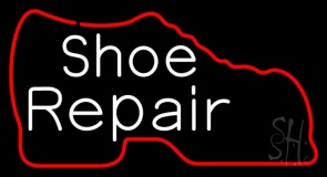 White Shoe Repair With Shoe LED Neon Sign