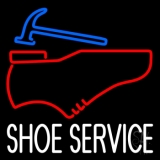White Shoe Service LED Neon Sign
