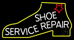 White Shoe Service Repair LED Neon Sign