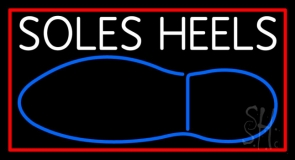 White Soles Heels LED Neon Sign