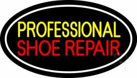 Yellow Professional Red Shoe Repair LED Neon Sign