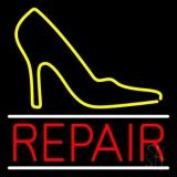 Yellow Sandal Logo Repair LED Neon Sign