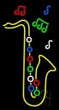 Yellow Saxophone 1 LED Neon Sign