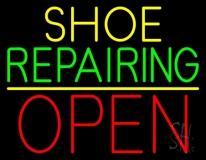 Yellow Shoe Green Repairing Open LED Neon Sign