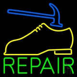 Yellow Shoe Green Repair LED Neon Sign
