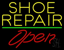 Yellow Shoe Repair Open LED Neon Sign