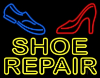Yellow Shoe Repair With Sandal Shoe LED Neon Sign