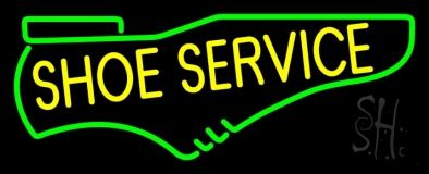 Yellow Shoe Service LED Neon Sign