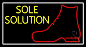Yellow Sole Solution LED Neon Sign