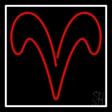 Aries With Border LED Neon Sign