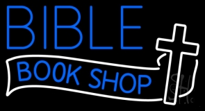 Bible Book Shop LED Neon Sign