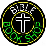 Bible Book Shop With Border LED Neon Sign