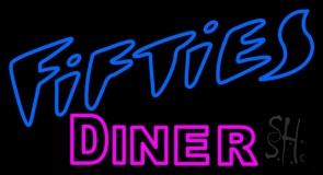 Blue 50s Pink Diner LED Neon Sign