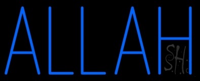Blue Allah Neon Sign