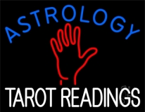 Blue Astrology Red Tarot Readings LED Neon Sign