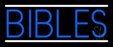 Blue Bibles Neon Sign