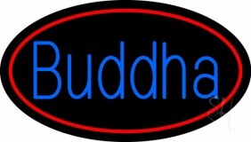 Blue Buddha LED Neon Sign
