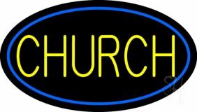 Blue Church LED Neon Sign
