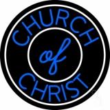 Blue Church Of Christ Block LED Neon Sign