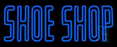 Blue Double Stroke Shoe Shop Neon Sign