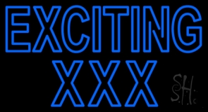 Blue Exciting Xxx LED Neon Sign