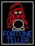 Blue Fortune Teller With Logo LED Neon Sign