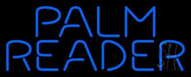 Blue Palm Reader Block Neon Sign