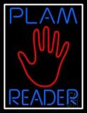 Blue Palm Reader White Border LED Neon Sign