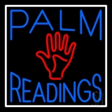 Blue Palm Readings With Red Palm LED Neon Sign