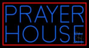 Blue Prayer House LED Neon Sign