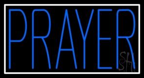 Blue Prayer LED Neon Sign